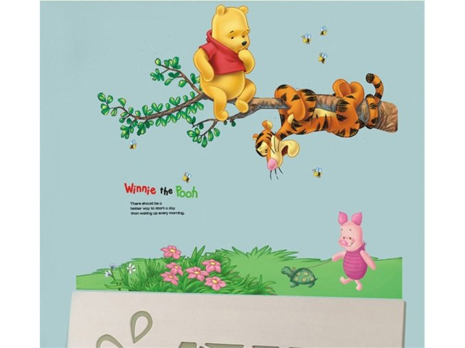 Cartoon Children Room Trees And Bear Pattern Wall Stickers Height Measure For Kids Room Children Nursery 703