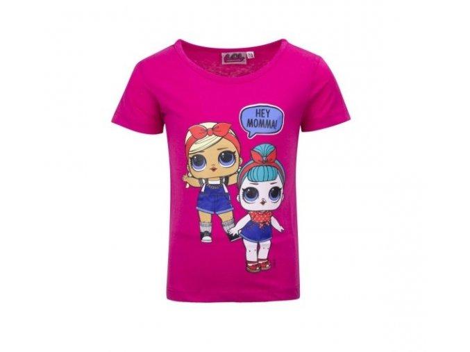 LOL Surprise Doll tmavě růžové dívčí tričko