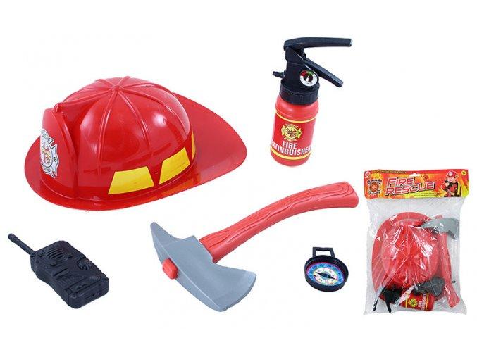 Dětská hasičská sada, helma s příslušenstvím
