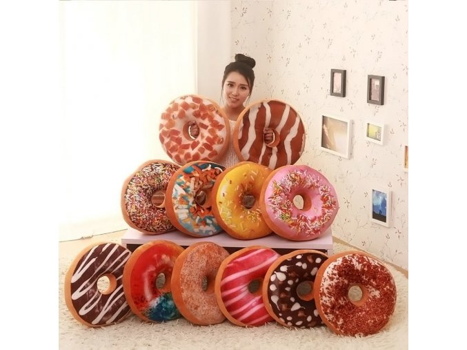 Funny Chocolates Donut Pillow Cushion Christmas Donuts Pillows Car Mats Sofa Seat Decor Xmas Kids Present 1