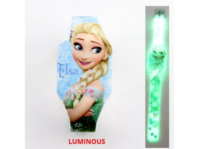 1 NEW Luminous Princess Elsa Children Watches Kids Spiderman Avengers Cartoon Pattern LED Girls Watch Reloj Infantil (1)