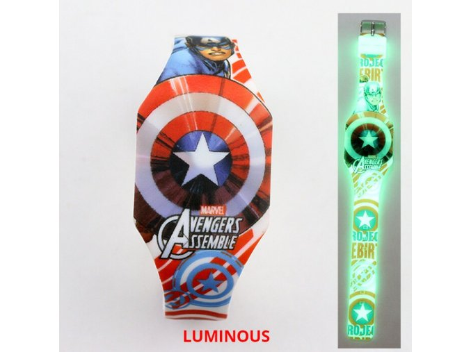 3 NEW Luminous Princess Elsa Children Watches Kids Spiderman Avengers Cartoon Pattern LED Girls Watch Reloj Infantil (1)