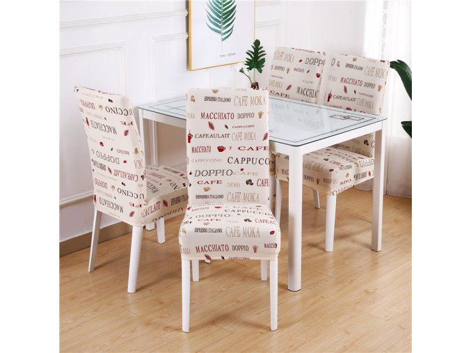 20 Dining Chair Cover Spandex Elastic Pastoral Print Modern Slipcovers Furniture Cover Kitchen Wedding housse de chaise