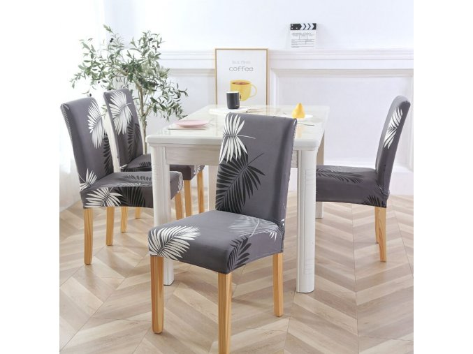 3 Dining Chair Cover Spandex Elastic Pastoral Print Modern Slipcovers Furniture Cover Kitchen Wedding housse de chaise