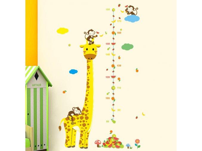 Samolepka Žirafí metr