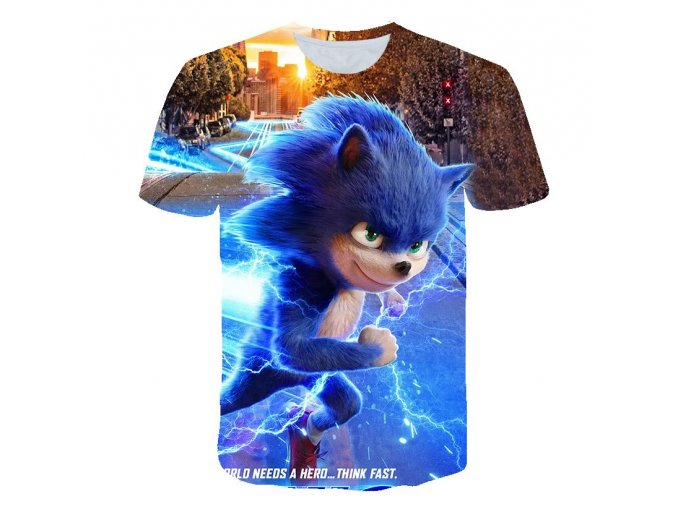 7 Summer Cool Sonic The Hedgehog Children Clothes Sonic T shirt Boys T Shirt T Kid Girl