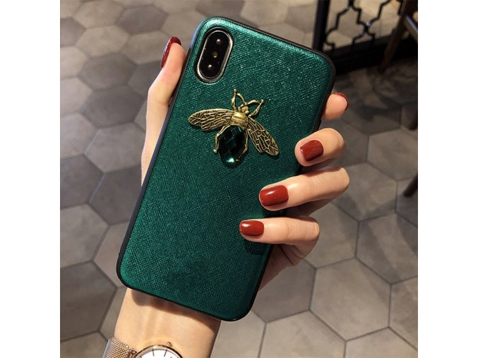 3 Luxury brand Diamond Bee Glitte soft case for iphone 7 8 6S plus X XR XS