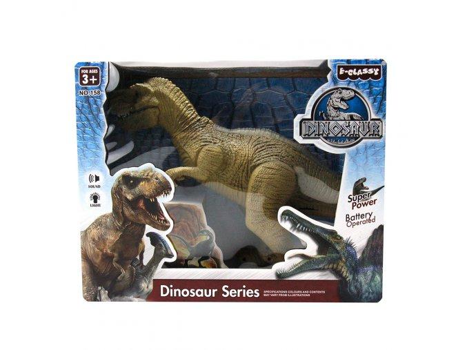 Chodící dinosaurus se zvukem a světlem