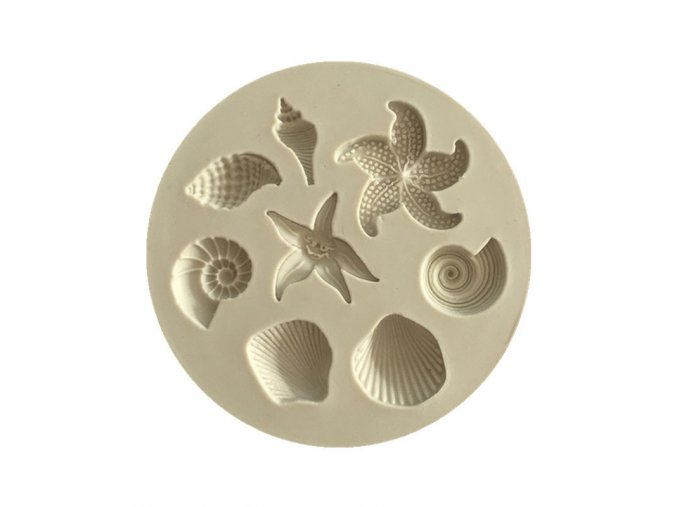 1pc Silicone Seaworld Seashells starfish conch shape silicone mold fondant chocolate cake decoration mold 7