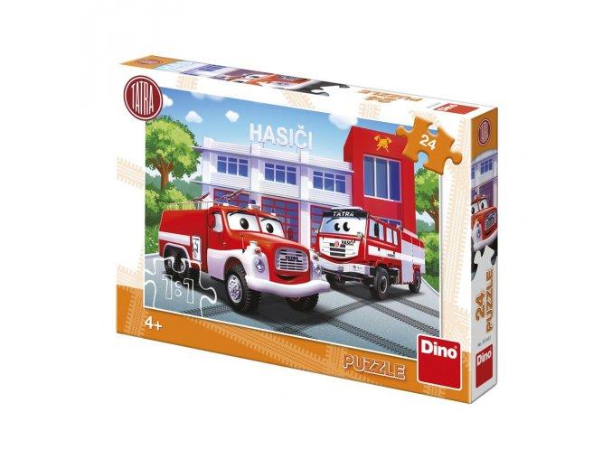 Dětské puzzle 24 dílků - Tatra hasiči