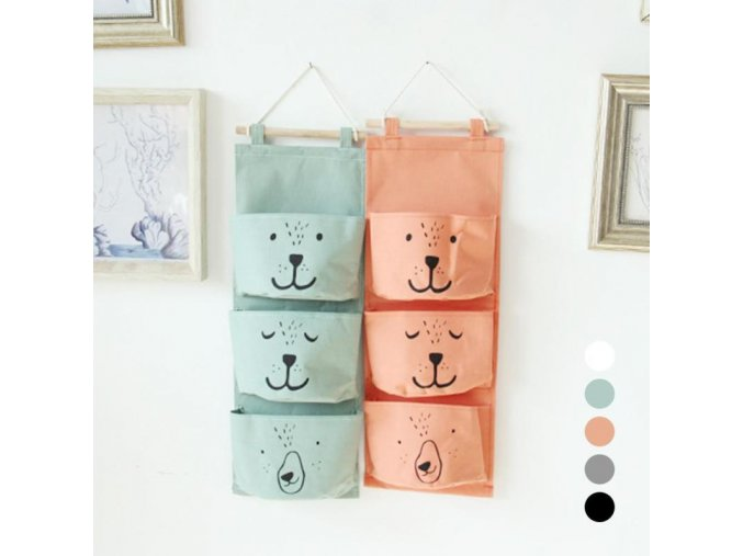 Wall Hanging Storage Bags Organizer Linen Closet Children Room Organizer Pouch for Toys Books Cosmetic Sundries 25
