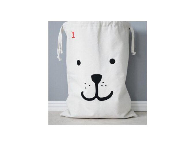 INS Large Baby Toys Storage Bags Canvas Bear Batman Laundry Hanging Drawstring Bag Household Pouch Bag 1