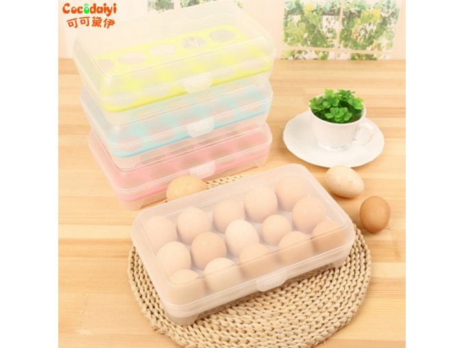 15 Grid Eggs Refrigerator Crisper Storage Box Food Organizer Bin Keeping Fresh Nov 18