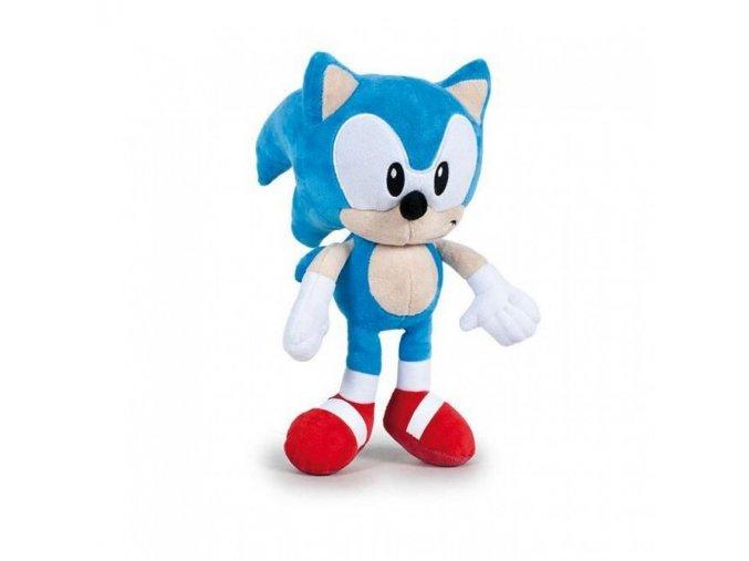 Plyšák Sonic ze seriálu Dobrodružství Ježka Sonica 30 cm