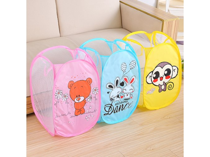 New Foldable Clothes Storage Baskets Mesh Dirty Clothes Laundry Basket Portable Sundries Organizer Toys Container 258469 33
