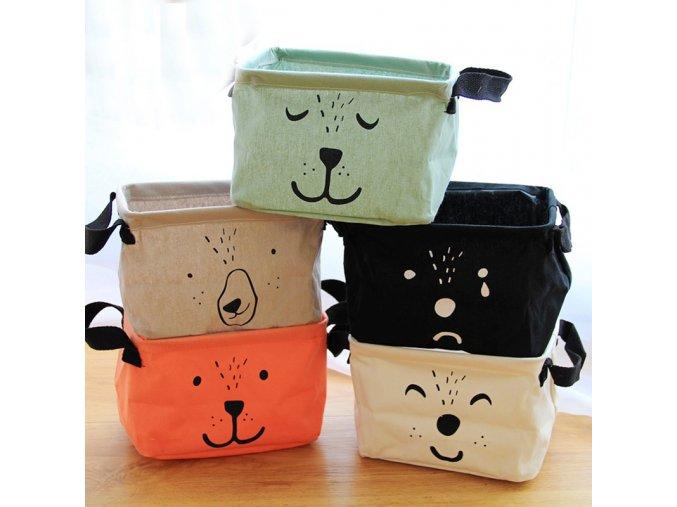 Cartoon Cotton Linen Folding Toy Clothes Storage Basket Bra Necktie Socks Organizer Underware Cosmetic Fold Storage 42