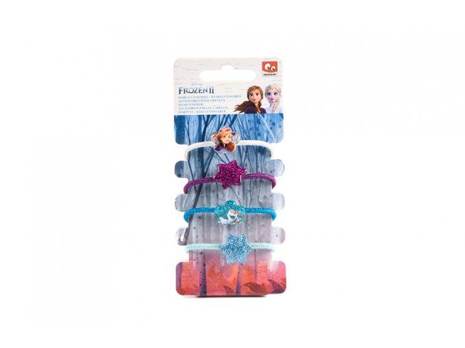 Frozen 2 gumičky do vlasů s ozdobou 4 ks