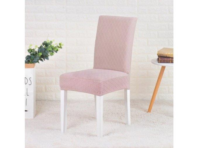 Elastické potahy na jídelní židli žakárové jednobarevné