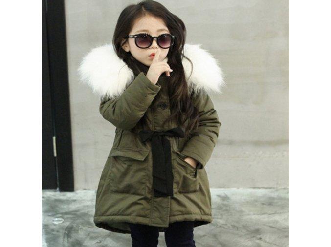 Korean Brand Girls Jackets Kids Faux Fur Collar Coat Children Winter Outwear 3 11 years old GREEN
