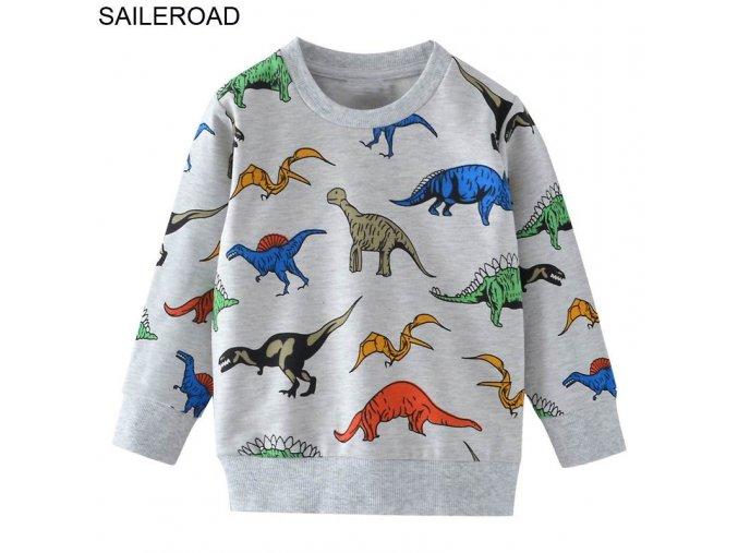 Dětská mikina s dinosaury