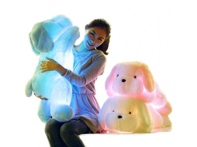 1pc 50cm 80cm LED Light Plush Dog Pillow Toys Luminous Glowing Gleamy Plush Dog Cushions Kids 1