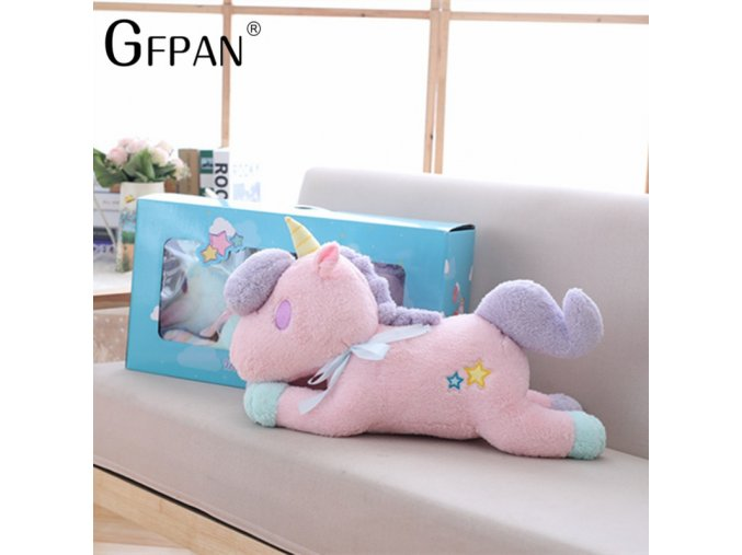 1PC 55cm Kawaii Toy Light Colorful Unicorn Plush Toy Stuffed Luminous Horse Home Furnishing Decoration Best 4