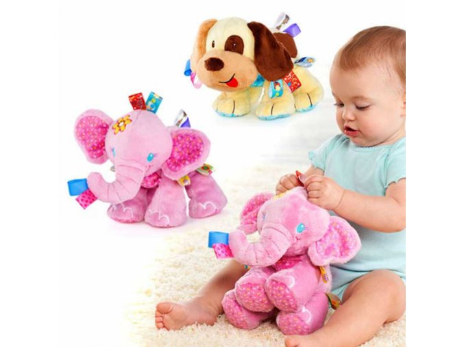 New Cute Plush Baby Toy Baby Toys Elephant Dog Plush Toys Infant Appease Dolls 1