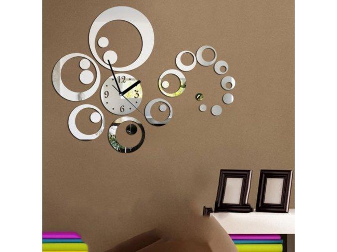 Nástěnné 3D hodiny Kruhy