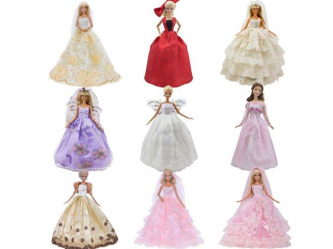 Handmade Wedding Dress Princess Evening Party Ball Long Gown Skirt Bridal Veil Clothes For Barbie Doll 1