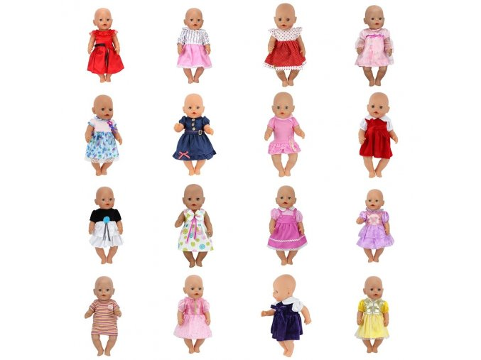 Doll Dress Fit For 43cm Baby Born Zapf Doll Reborn Babies Clothes And 17inch Doll Accessories 1