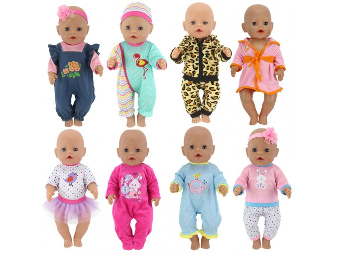 doll outfit set for 18 inch zapf baby born dolls clothes for 18 43cm bebe new 1
