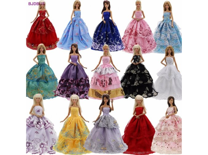 Lot 15 Pcs 10 Pairs Of Shoes 5 Wedding Dress Party Gown Princess Cute Outfit Clothes 1