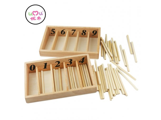 Montessori Math Toys Mathematics Montessori Materials Educational Wooden Spindle Box Early Learning Training Toy UB0663H 1