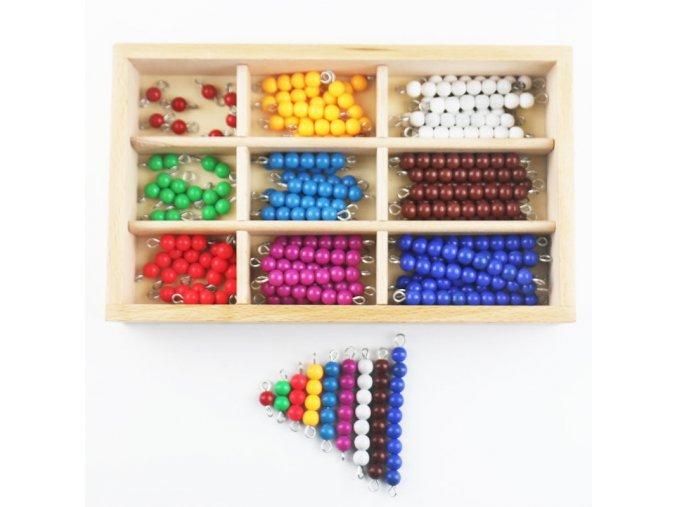 Montessori Beads Box Montessori Materials Wooden Colored Beads Preschool Sensorial Educational Toys For Children UC0565H 1