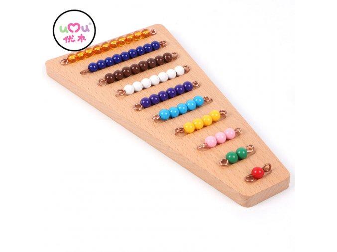 Montessori Bead Material Wooden Montessori Materials Math Counting Board Preschool Montessori Educational Wooden Toys UC1765H Beads Board
