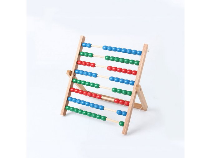 Montessori Abacus Counting Frame Math Toys Preschool Educational Learning Toys For Children Juguetes Brinquedos MH2264H 1