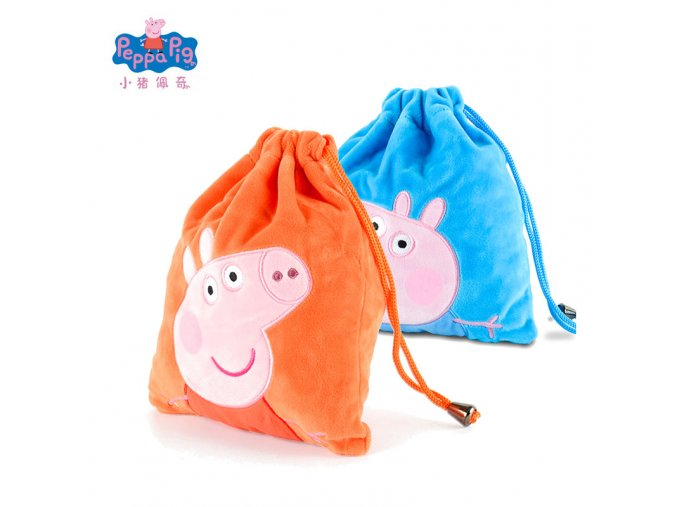Genuine Peppa Pig George Pig Plush Toys Kids Girls Boys Kawaii Kindergarten Bag Backpack Wallet Money 3