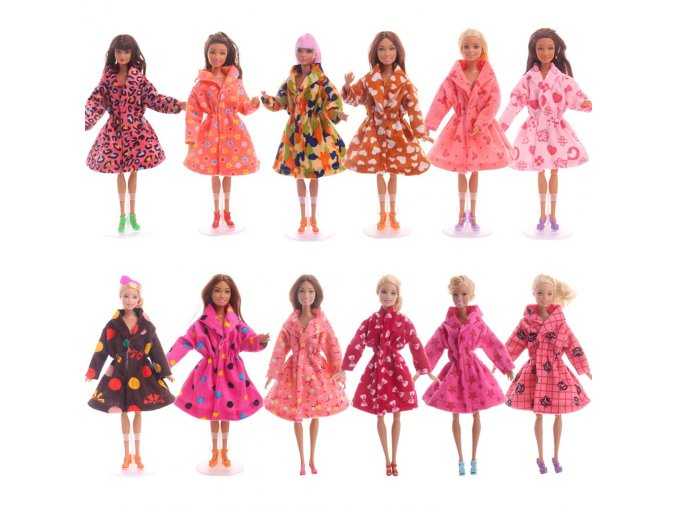 15 color Barbie Clothes Handmade Outfit Fashion Casual Wear Party Dress Up Coat For Barbie Doll 1