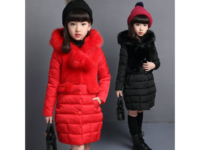 2018 New Winter Big Girls Warm Thick Jacket Outwear Clothes Cotton Padded Kids Teenage Coat Children 1