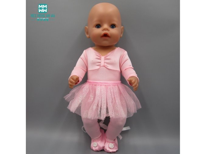 Doll Clothes fits 45cm american girl and Baby Born Zapf Doll fashion Ballet princess dress evening 1