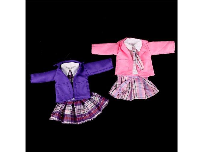 4pcs set dolls suit white shirt strap dress set for 18 45cm doll American girl doll 2