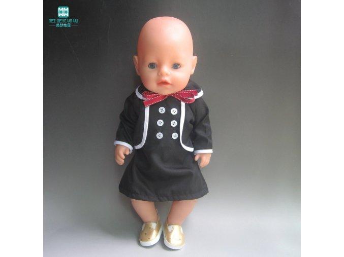 fits 45 cm Zapf Baby Born Fashion black windbreaker Clothes for dolls Accessories (2)