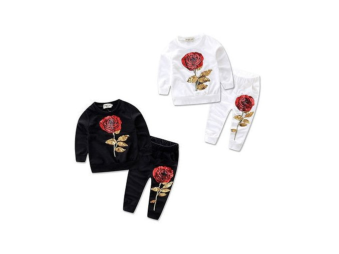 Floral Toddler Kids Baby Girl Clothes Autumn Winter Warm Rose Pullover Sweatshirt Pant 2pcs Cute s 1
