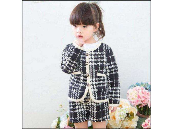 Anlencool 2018 Korean ladies lattice jacket short pant 2 picese sets of female baby autumn fashion 1