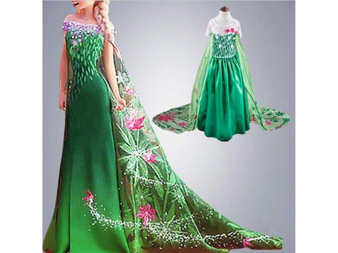 Girls Elsa Dress Costume Princess Anna Dresses Cosplay Party Summer Baby Kids Children Fancy Baby Girl 1