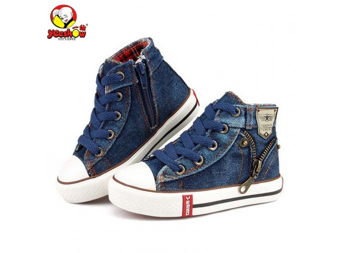 2019 Canvas Children Shoes Sport Breathable Boys Sneakers Brand Kids Shoes for Girls Jeans Denim Casual 1