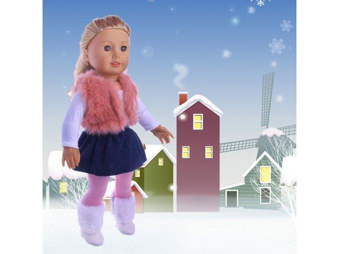 18Inch Girls Doll Clothes Set Winter Coat Dress Leggings 4Pcs Suit Fit 43cm Baby Born Doll 1