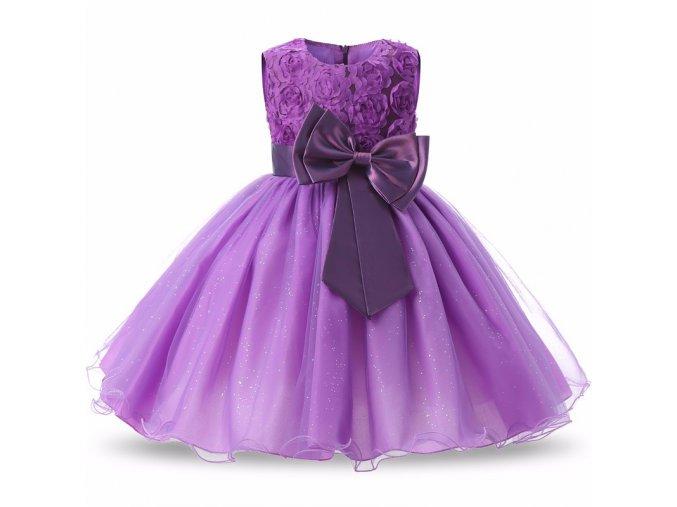 Tylové šaty s mašlí