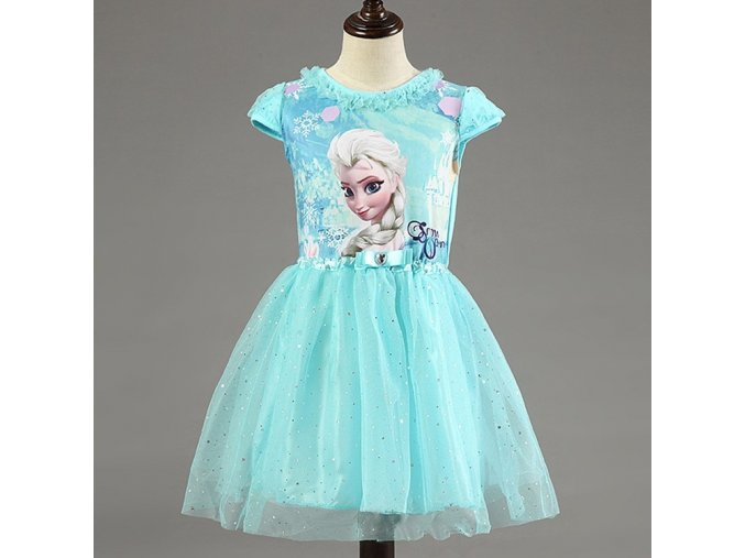 6e6e872bf96e Kids 2 7years New Girls Dresses Vestidos Elsa Dress Kids Snow Queen  Children Clothing Summer Girl