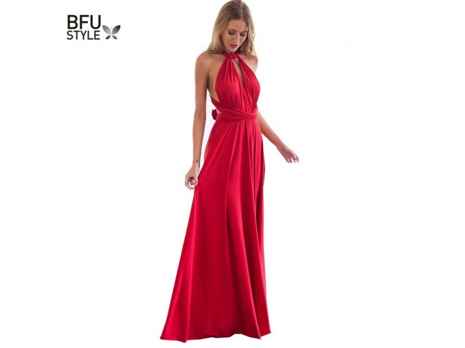Sexy Women Multiway Wrap Convertible Boho Maxi Club Red Dress Bandage Long Dress Party Bridesmaids Infinity 1